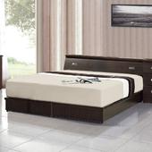 《AGNES 艾格妮絲》超值典藏五件式房間組合(床墊+床頭箱+床底+鏡台+衣櫃)(胡桃色)