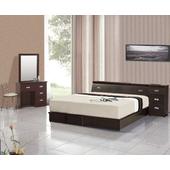 《AGNES 艾格妮絲》超值典藏六件式房間組合(床墊+床頭箱+床底+床頭櫃+鏡台+椅)(胡桃色)