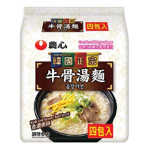 農心 牛骨湯麵(111g*4包/袋)