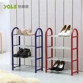 《YOLE悠樂居》40x19x60cm簡裝四層收納鞋架(2入組)