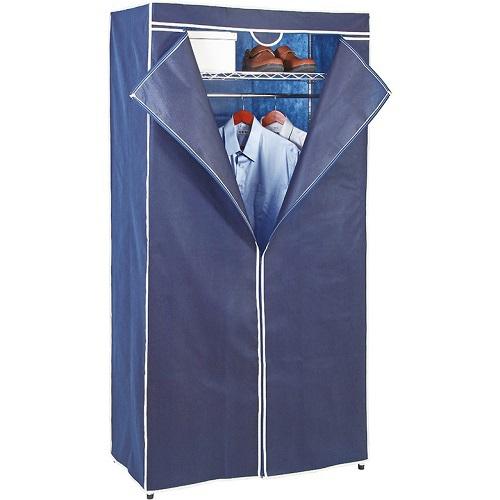 FP 鐵力士吊衣架組- 藍(45*90*180cm 附防塵套)