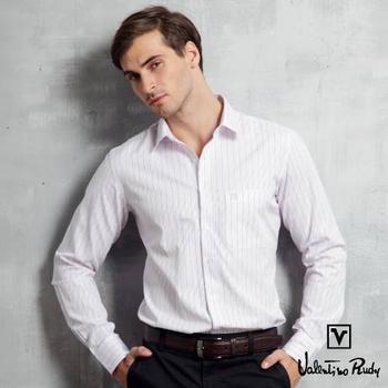 Valentino Rudy范倫鐵諾.路迪 長袖襯衫-紫-斜紋(16吋)