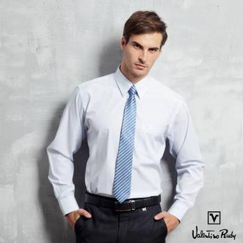Valentino Rudy范倫鐵諾.路迪 長袖襯衫-淡藍直條(16吋)