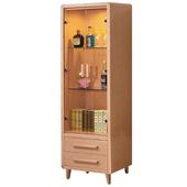 《時尚屋》詠佳2尺原木色展示櫃