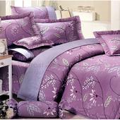 《Victoria》紫玫瑰 純棉單人床包組
