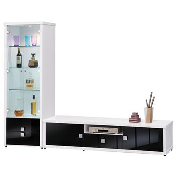 《時尚屋》米蘭8.1尺白色L型電視櫃