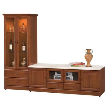 《時尚屋》長榮8.2尺樟木L型電視櫃
