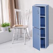 《樂活玩家》四格二門書櫃(優雅藍色)