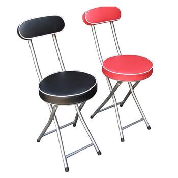 《頂堅》(沙發椅座)高背折疊椅子1入/組(深黑色)