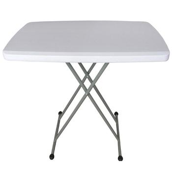 頂堅 六段式可調整折疊桌/餐桌/洽談桌-1入(象牙白色)