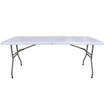 頂堅 6尺寬度-對疊折疊桌/餐桌/野餐桌/洽談桌-1入(象牙白色)