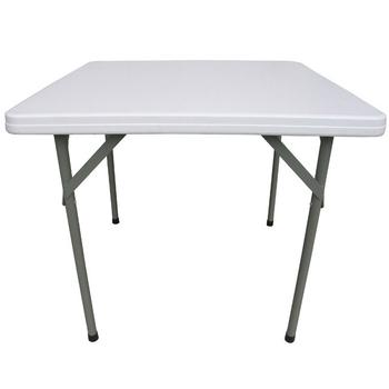 頂堅 方形折疊桌/麻將桌/餐桌/工作桌/露營桌/拜拜桌-1入(象牙白色)