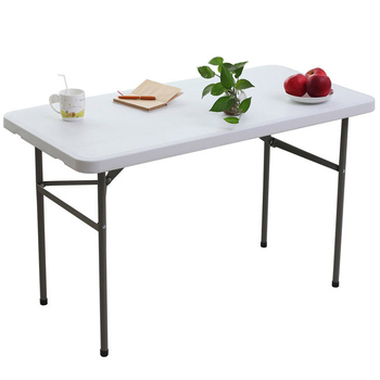 頂堅 4尺寬度-折疊桌/工作桌/野餐桌/洽談桌-1入(象牙白色)