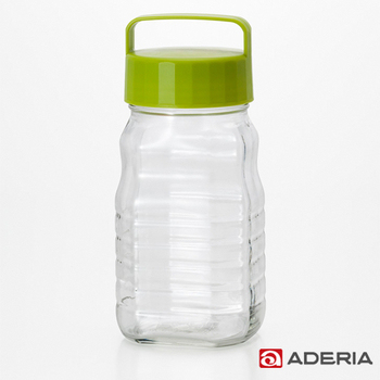 ★結帳現折★ADERIA 日本進口玻璃梅酒瓶1200ml(722-綠色)