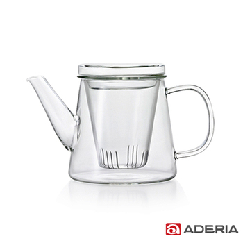 ADERIA 日本進口LAVIA系列耐熱花茶壺500ml(附玻璃濾杯)(H-8591)
