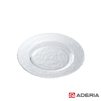 《ADERIA》日本進口Biscuit系列玻璃淺型餐盤24cm(H-3657)