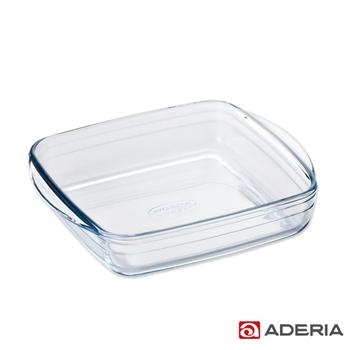 《ADERIA》日本進口方型微波玻璃烤盤(大)(H-3765)