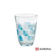 《ADERIA》日本進口格紋啤酒杯290ml(9383-藍)
