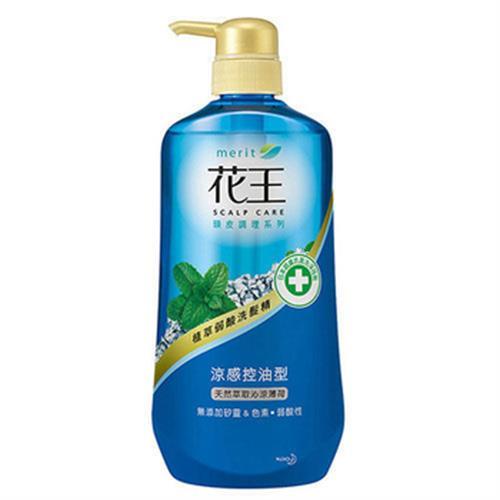 花王 植萃弱酸洗髮精-涼感控油型薄荷(750ml/瓶)