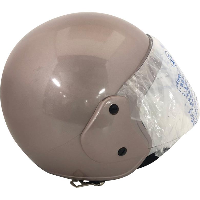 FP 半罩式安全帽(金屬扣) 銀紅(KC317)