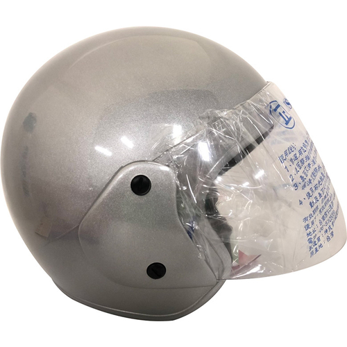 FP 半罩式安全帽(金屬扣) 銀色(KC317)