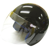 《FP》半罩式安全帽(金屬扣) 黑色(KC317)
