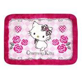 《Hello Kitty》Charmmy Kitty 桃紅玫瑰地墊