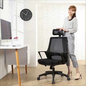 《BuyJM》舒伯成型泡棉網布高背電腦椅/辦公椅(黑)