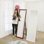 《BuyJM》實木造型立掛兩用穿衣鏡(高159寬47.5公分)(胡桃色)