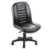 《吉加吉》短背 方條 皮椅 TW-1024(黑色)