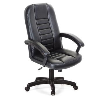 《吉加吉》高背 方條 皮椅 TW-1021(黑色)