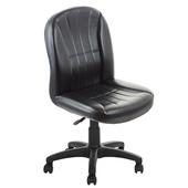 《GXG》短背皮面 無扶手電腦椅 TW-1012 E(黑色)