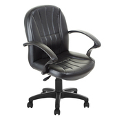 《GXG》短背皮面 電腦椅 TW-1011E(黑色)