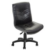 《GXG》短背皮面 無扶手電腦椅 TW-1008 E(黑色)