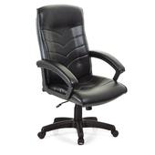 《吉加吉》高背 箭紋 皮椅 TW-1005(黑色)