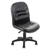 《GXG》短背皮面 無扶手電腦椅 TW-1004 E(黑色)