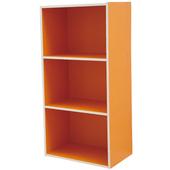 《樂活玩家》繽紛三格收納櫃(橘色)
