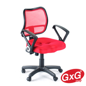 《吉加吉》短背 透氣 電腦椅 TW-008(紅色)