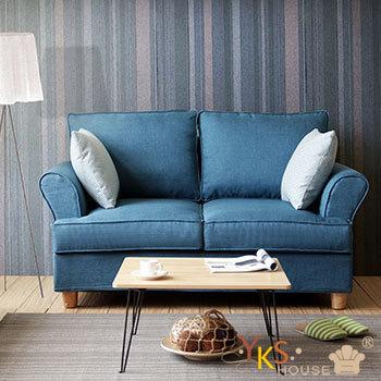 YKSHOUSE 挪威雙人座布沙發-獨立筒版