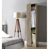 《佳嘉家》時尚單門衣櫃/櫥櫃-四色選擇(深橡色)