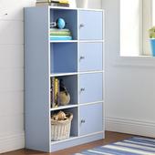 《佳嘉家》DIY弗雷八格四門櫃/書櫃/置物櫃/收納櫃(藍色)