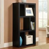 《佳嘉家》時尚六格展示櫃/書櫃/收納櫃/隔間櫃(黑色)