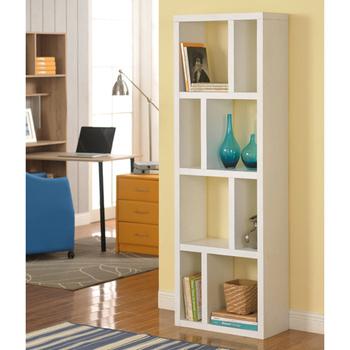 佳嘉家 高雅八格展示櫃/書櫃/收納櫃/隔間櫃-兩色選擇(白色)