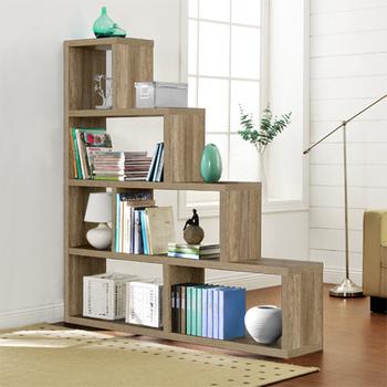 《佳嘉家》DIY席恩展示櫃/書櫃/收納櫃/隔間櫃-四色選擇(深橡色)