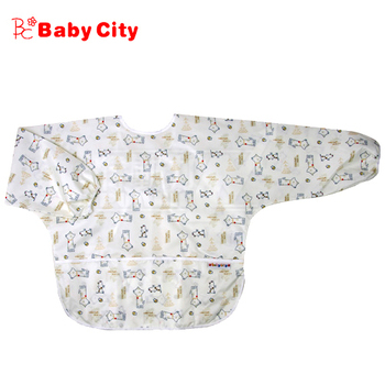 娃娃城BabyCity 防水長袖畫畫衣(3-5A) 米色狗