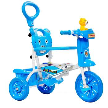 《FUSIN》黃色小熊 Q8 無毒多功能三輪推車(水藍)