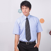 《JIA HUEI》短袖柔挺領吸濕排汗防皺襯衫 藍色 [台灣製造](16)