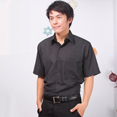 《JIA HUEI》短袖柔挺領吸濕排汗防皺襯衫 黑色 [台灣製造](16)