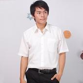 《JIA HUEI》短袖柔挺領防皺襯衫海島棉 米白色 [台灣製造](16)