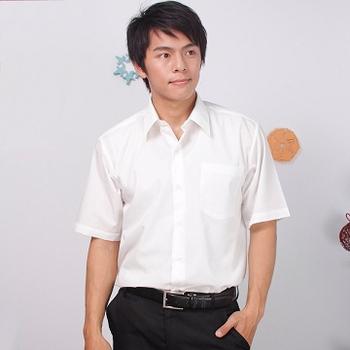 JIA HUEI 短袖柔挺領防皺襯衫海島棉 米白色 [台灣製造](16)